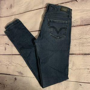 Sleek 535 LEVI's Denim Jeans Leggings in 7Long